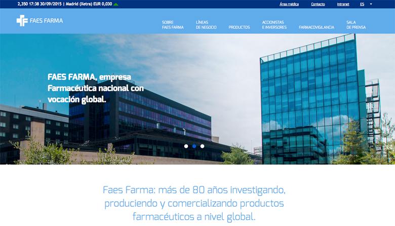 Imagen pantalla Nueva Web FAES FARMA