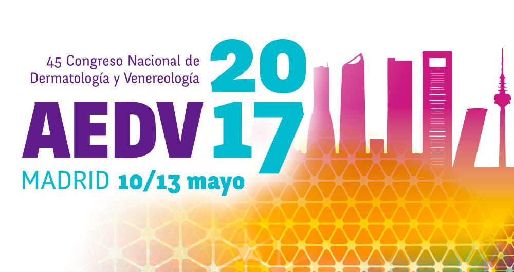 Cartel del 45 Congreso Nacional de Dermatología y Venereología