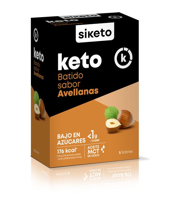 Siketo batido sabor avellanas 5 sobres